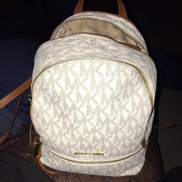 Michael Kors backpack Used MK backpack. Minor wear. Authentic. Michael Kors  Bags Backpacks bf3f3b040c3e1