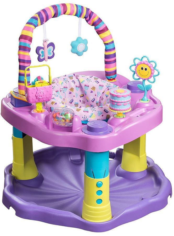 9b4e9a93a Evenflo ExerSaucer Bounce   Learn Sweet Tea Party