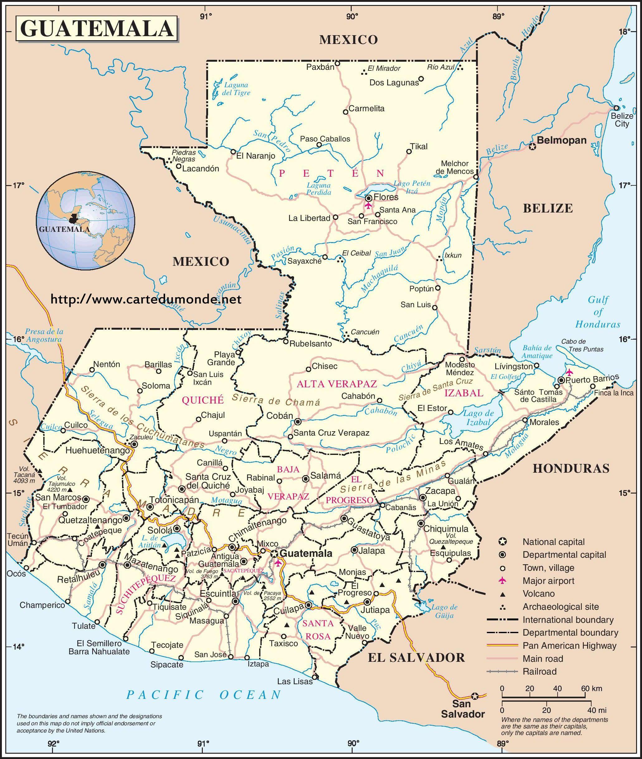Mapa de Guatemala guatemalteca Pinterest