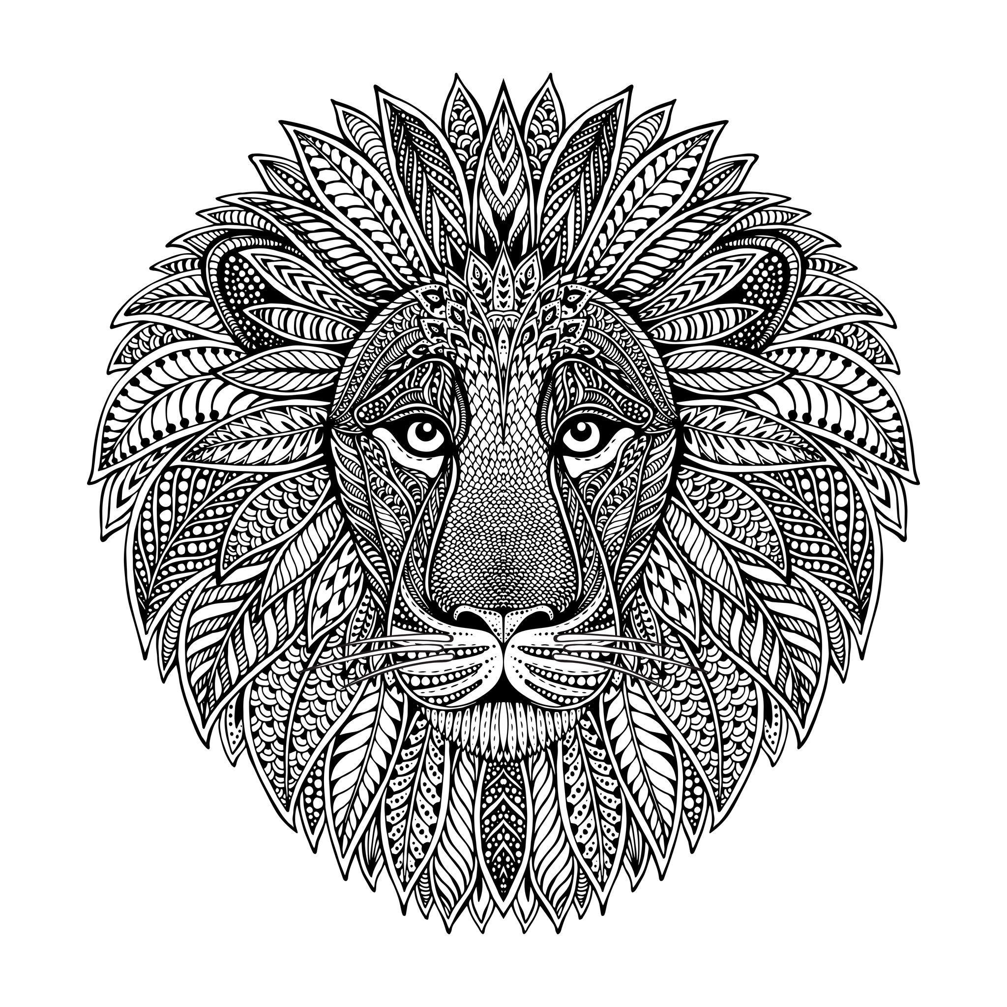 Lion Head Mandala Style Lowen Malvorlagen Mandala Malvorlagen Mandala Lowe