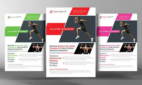 Gym Flyer ~ Flyer Templates on Creative Market Inspirational Gym - gym brochure templates