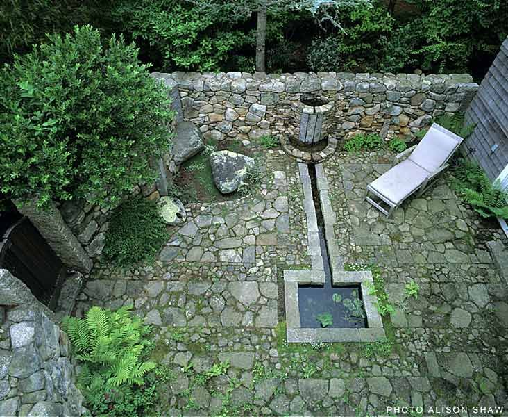 Lew French Stone fountain and pool