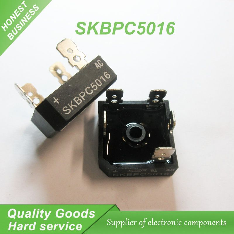 rectifier bridge SKBPC5016 foot 50A1600V 5PC Three-phase bridge rectifier
