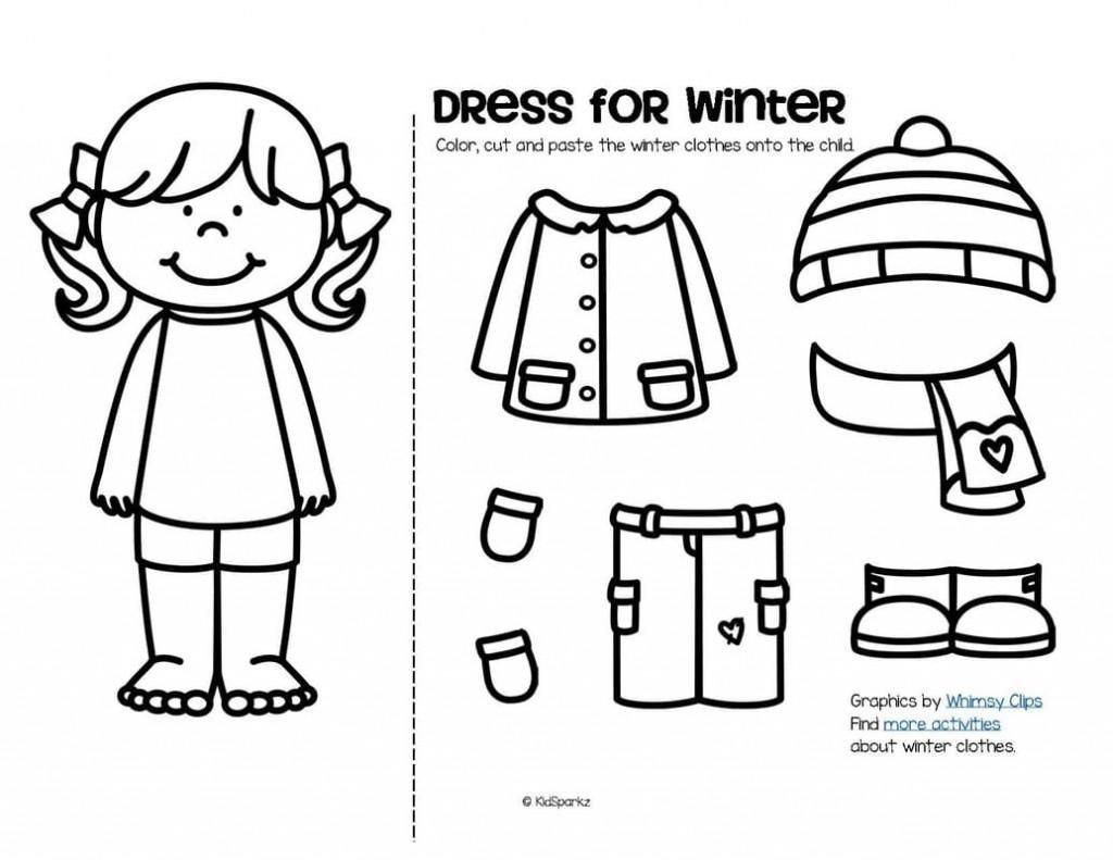 Clothes Worksheets Kindergarten