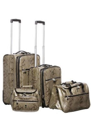 a7e1a311984 Palazo Portofino 7-Piece Snakeskin Luggage Set in Silver | Luggage ...