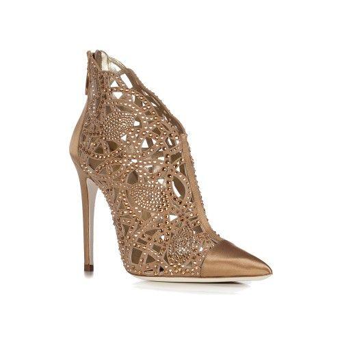 Scarpe gioiello oro e argento da sposa - Sandali gioiello da sposa tacchi bassi | Loriblu.com