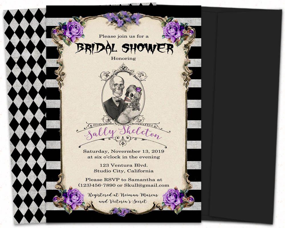 Nightmare before christmas wedding shower invitations