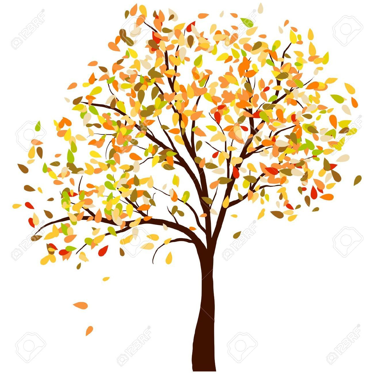 Arboles De Colores Dibujos Buscar Con Google Arboles De Colores árboles En Otoño Ilustración De árbol