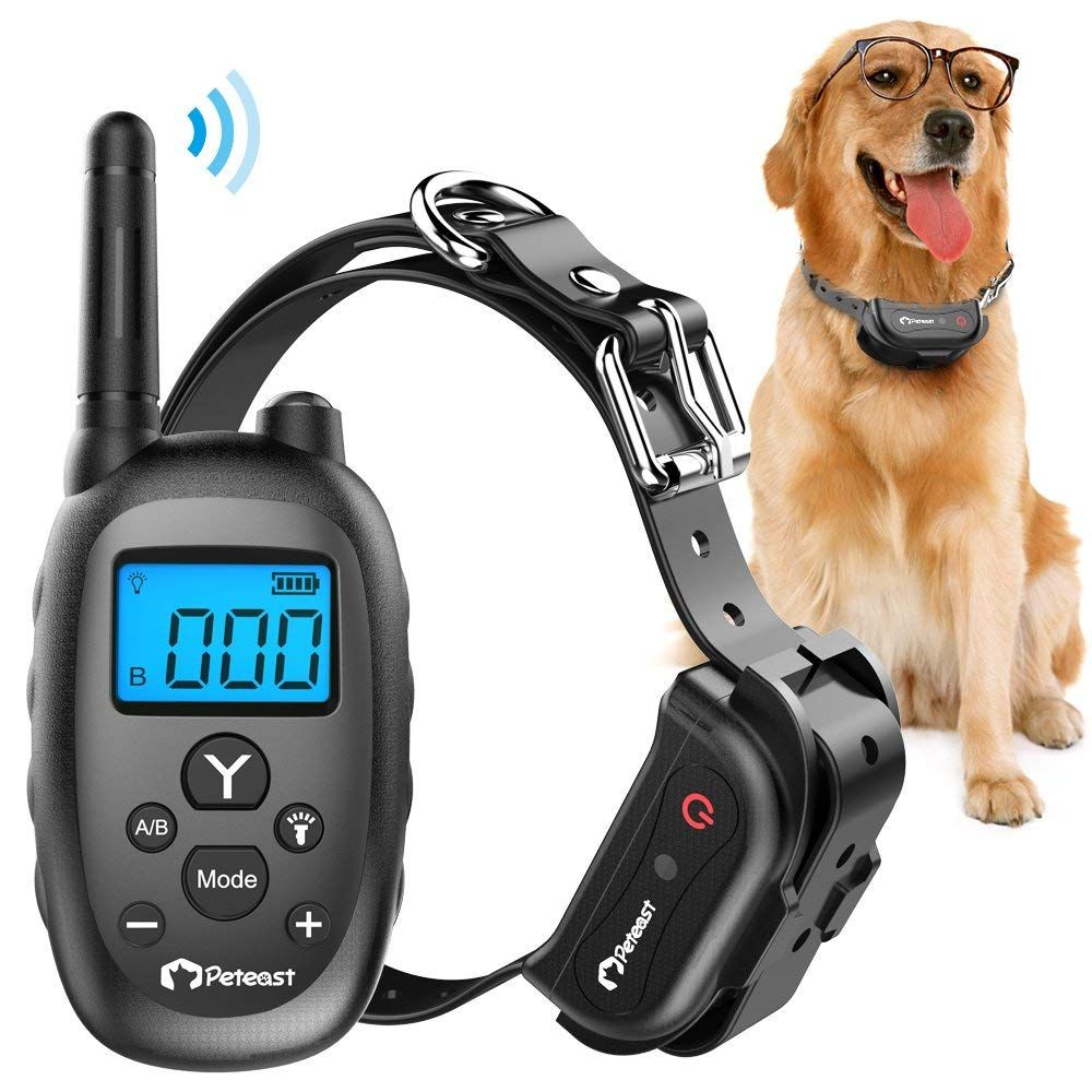 Peteast Remote Dog Training Collar, Rechargeable and