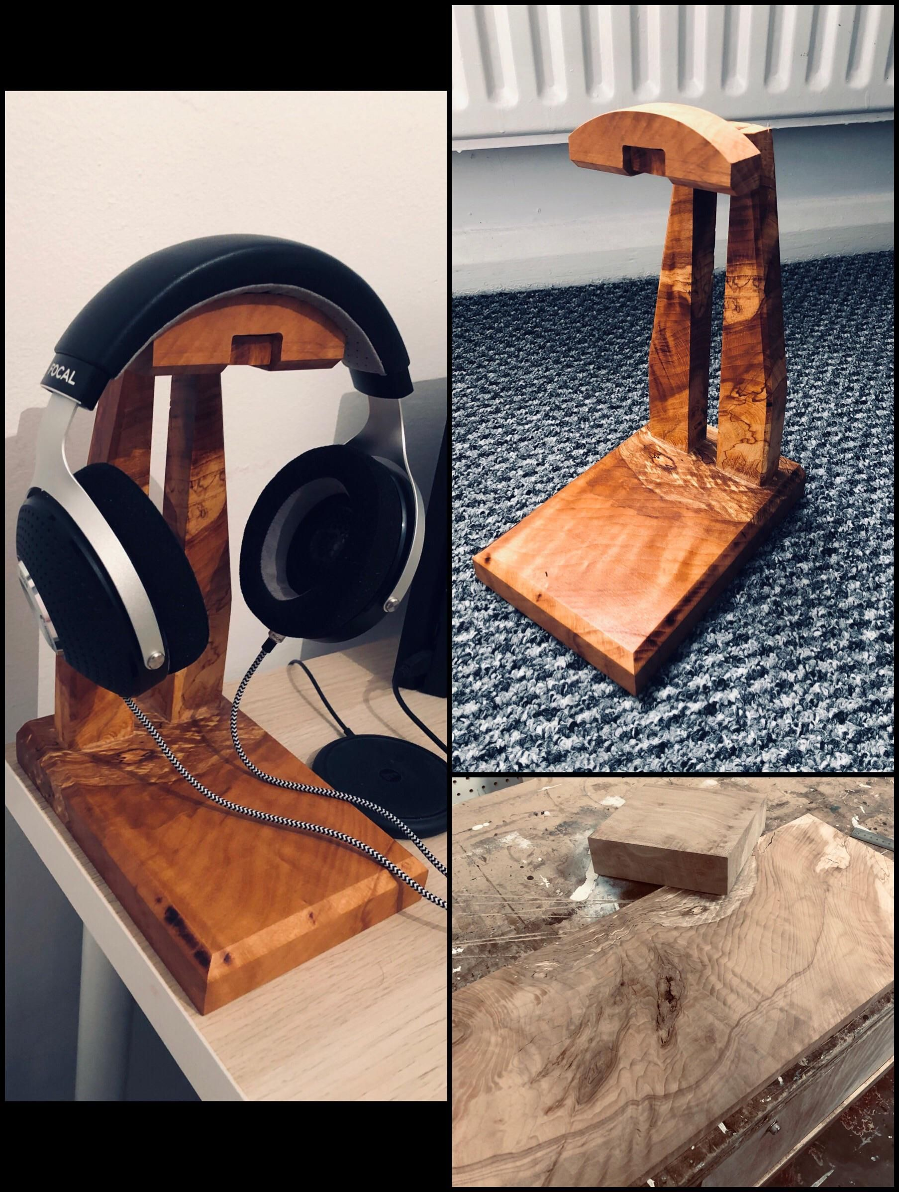 My first project !!! Headphones stand https//ift.tt