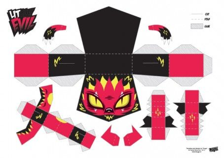 Blog_Paper_Toy_papertoys_Little_Evil_Red_template_preview