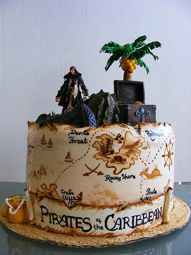 Prime Pirates Of The Caribbean Cake With Images Pirate Cake Disney Funny Birthday Cards Online Aeocydamsfinfo