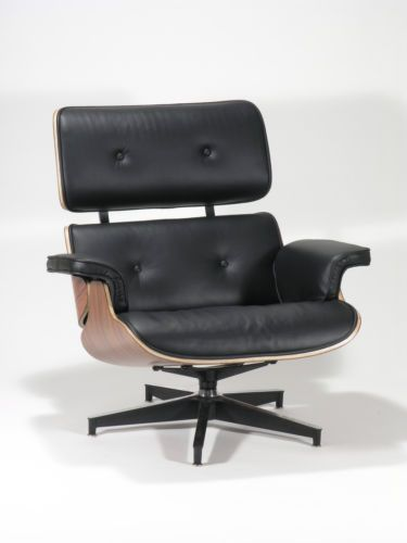 charles eames style rosewood lounge chair and ottoman genuine black