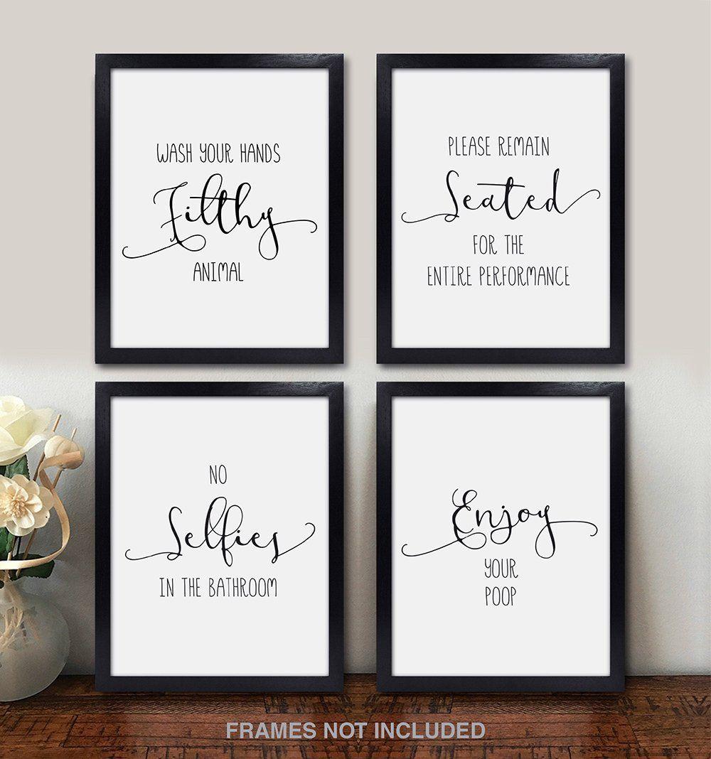 Funny Bathroom Decor Quotes And Sayings Wall Art Photos Prints