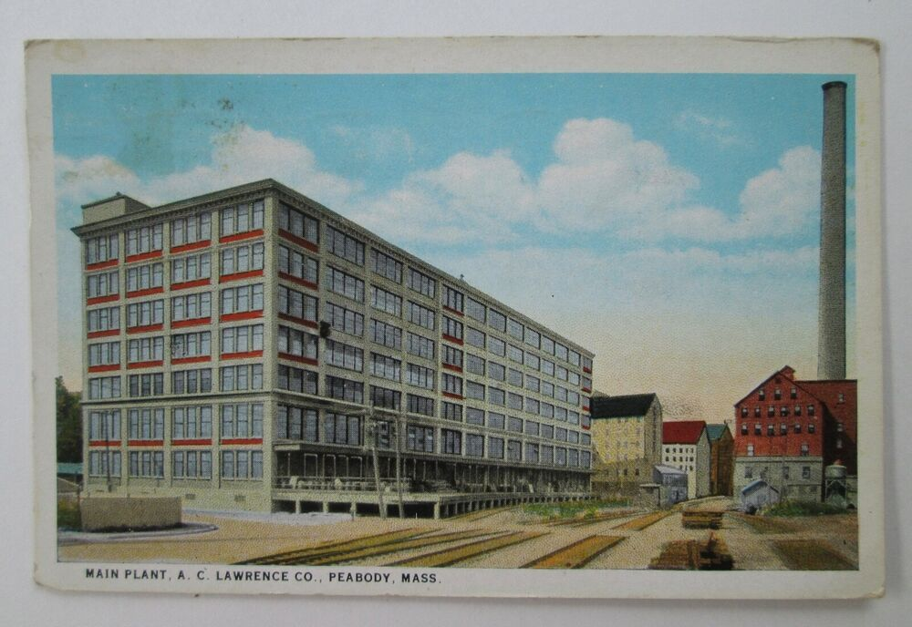 Details About 1942 Main Plant A C Lawrence Co Peabody Mass Vintage C T Amer Art Postcard Peabody Postcard Lawrence Massachusetts