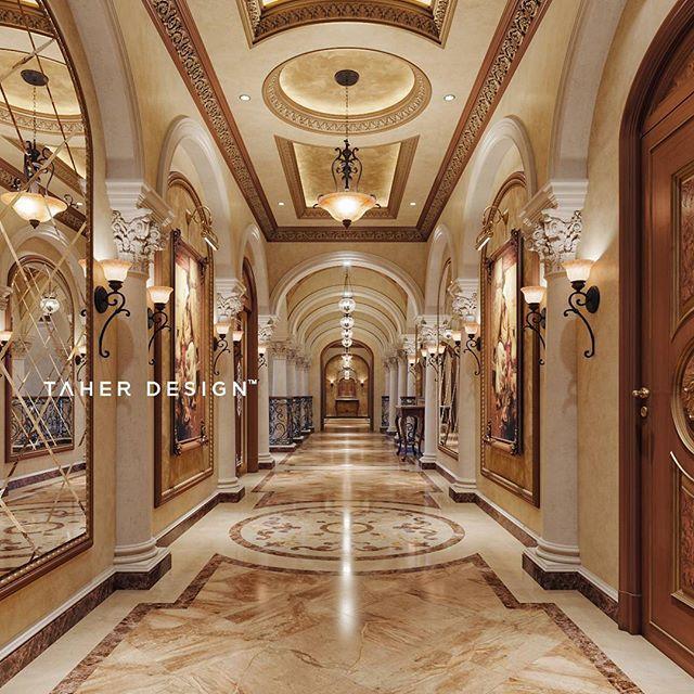 Grand Home Design Studio: Luxury Corridor Design For Villa In Dubai, ©2017