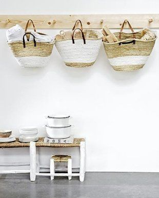loving these French market baskets as storage