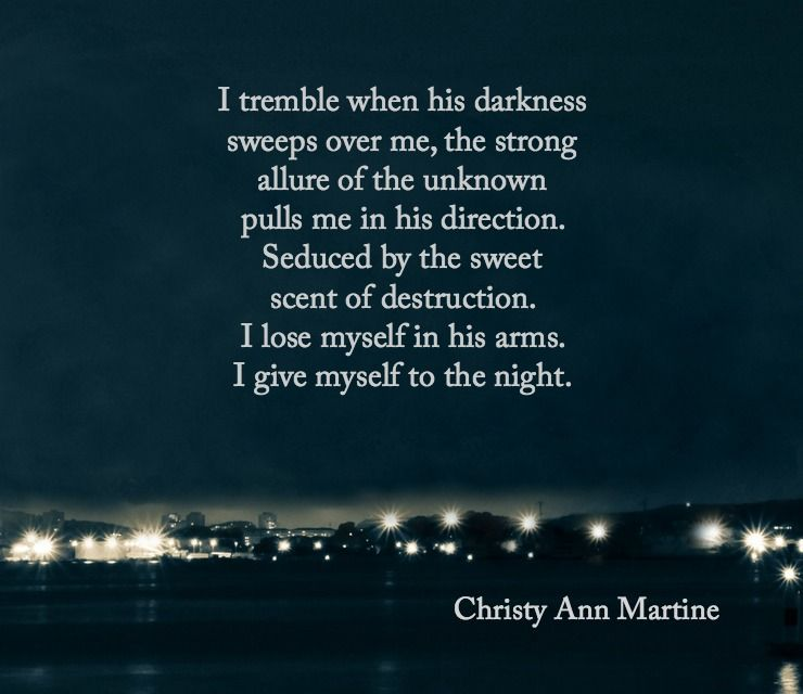 Sweet Destruction poem by Christy Ann Martine - Love Poems - dark poems - love poetry - sexy poem #christyannmartine