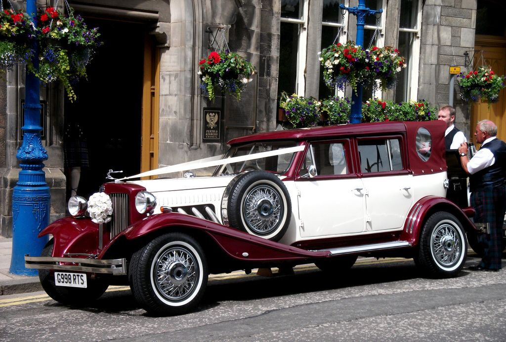 RTS Beauford Kit Car On Wedding Duties Perth U0026 Kinross Council City  Chambers Office High St. Tea Time For The Chauffers. Owned And Operated By  U0027Chauffers Of ...