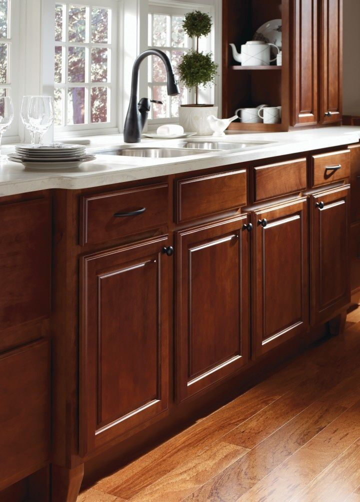 wooden thomasville cabinets kitche design | Braddock Alder Clove kitchen by Thomasville Cabinetry ...