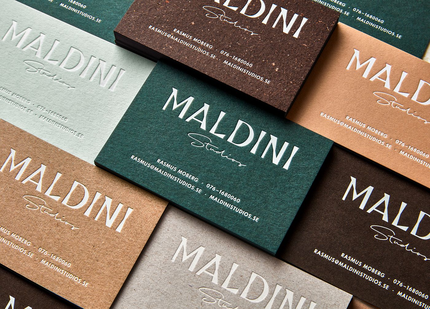 Identity For The Small Independent Interior Design Firm Maldini Studios In Stockholm Sweden