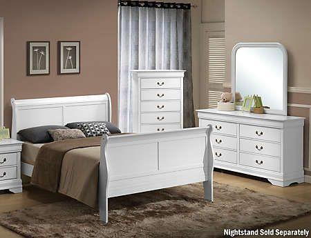 Philippe White 5 Piece Queen Bedroom Set Couleur Chambre