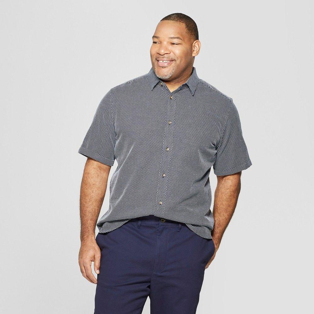 06bfd14c670 Men's Big & Tall Jacquard Short Sleeve Novelty Button-Down Shirt -  Goodfellow & Co