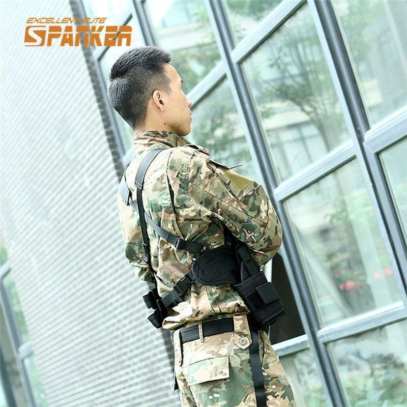 SPANKER 1000D Tactical Shoulder Pistol Gun Armpit Holster Magazine Pouch Camping Hunting Belt Military Paintball Holster Bag