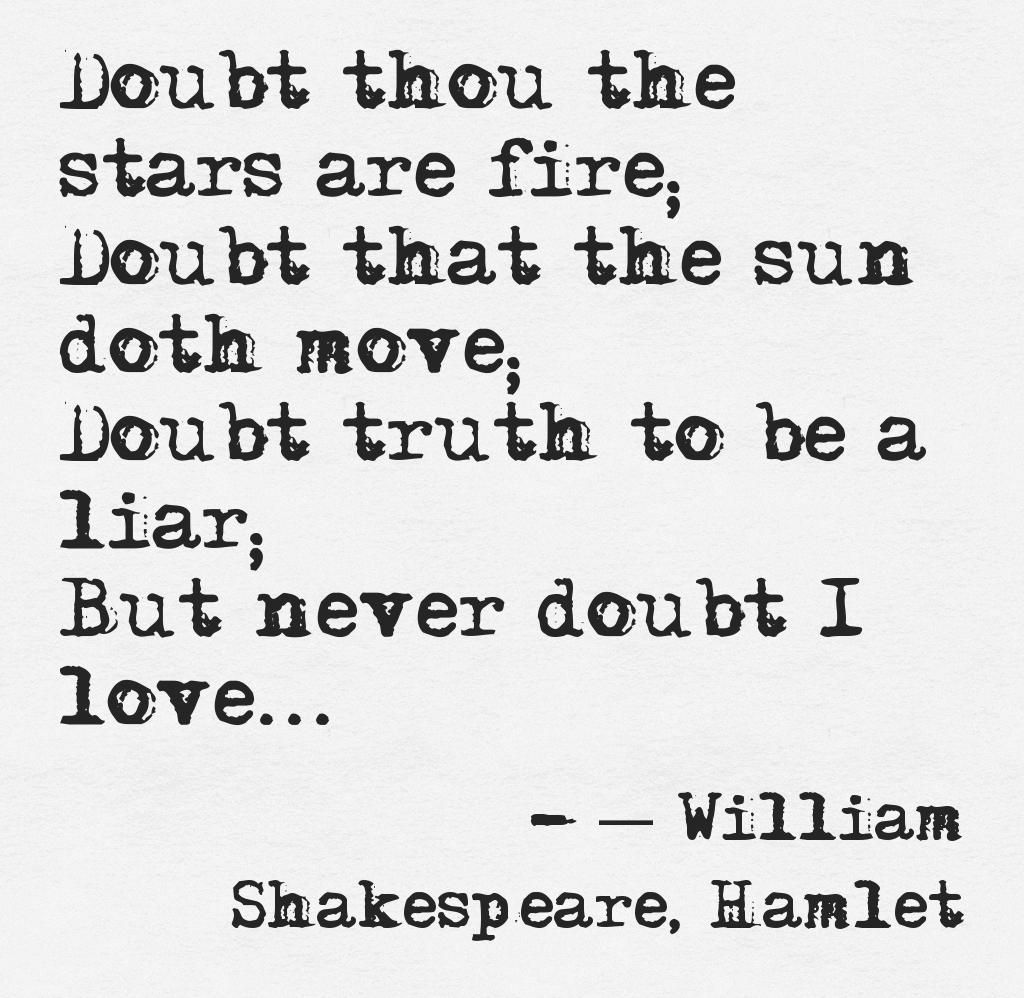 Shakespeare love this quote