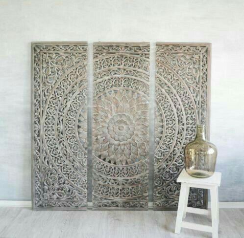 Marocko Carved Wood Wall Art Part 72