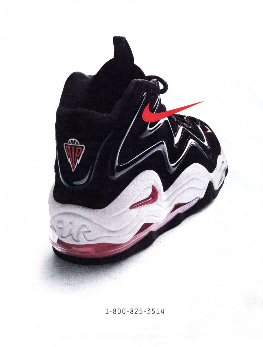 Nike Vintage Ad: Air Max Pippen, worn by Scottie Pippen (mine were blue