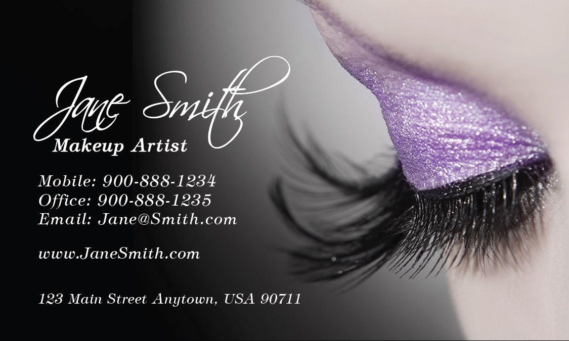 Cosmetology Make Up Artist Business Card - Design #601111 | Fashion ...