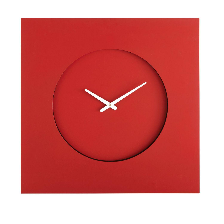 Quadratische Wanduhr Mit Beleuchtung Rot Auf Maisons Du Monde Stobern Sie In Unserer Mobel Und Deko Auswahl Und Schop Wanduhren Uhren Beleuchtung