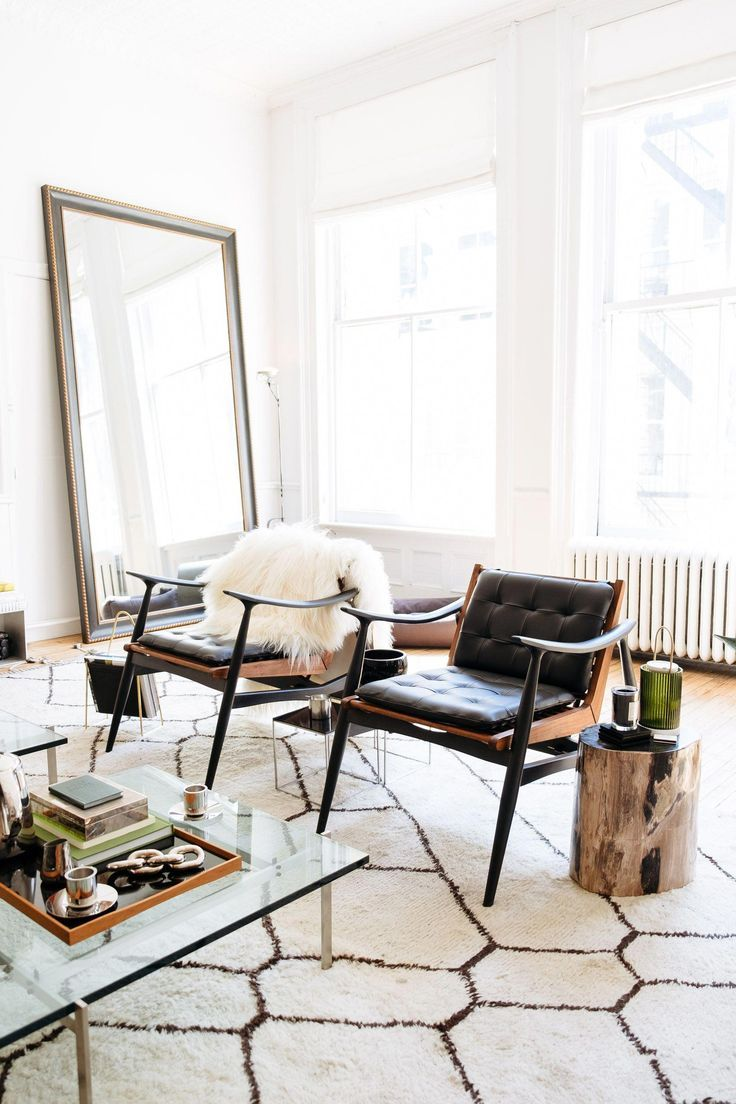 Bright living room with chic interior decor at the apartment by line in  also rh pinterest