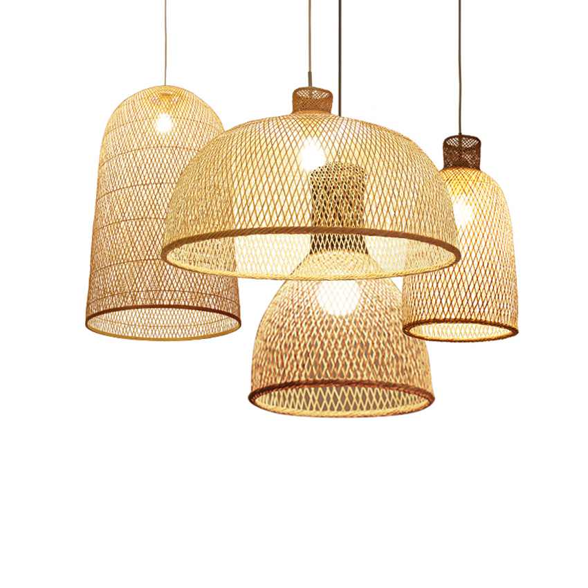 Southeast Asia Bamboo Pendant Lamps Led Wood Wicker Pendant Lights Dining Room Home Deco Hanging L Wicker Pendant Light Bamboo Pendant Light Wood Pendant Lamps