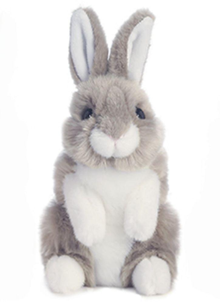 Aurora Lil Bunny 7 5 Plush Gray White Rabbit Stuffed Animal Easter