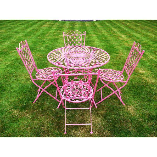 buy pink 4 seater dining set pink patio set swanky interiors