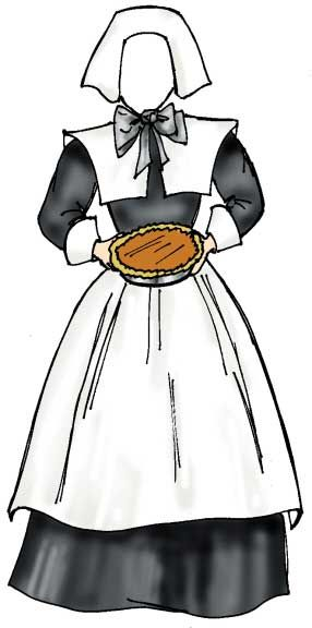 Pilgrim Female Cutout Help Remember The First Thanksgiving And Why
