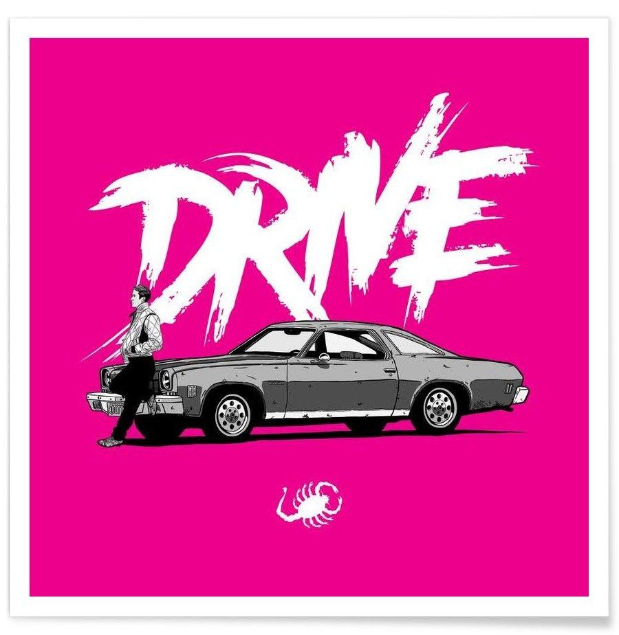 Drive - Pink VON Federico Mancosu now on JUNIQE!