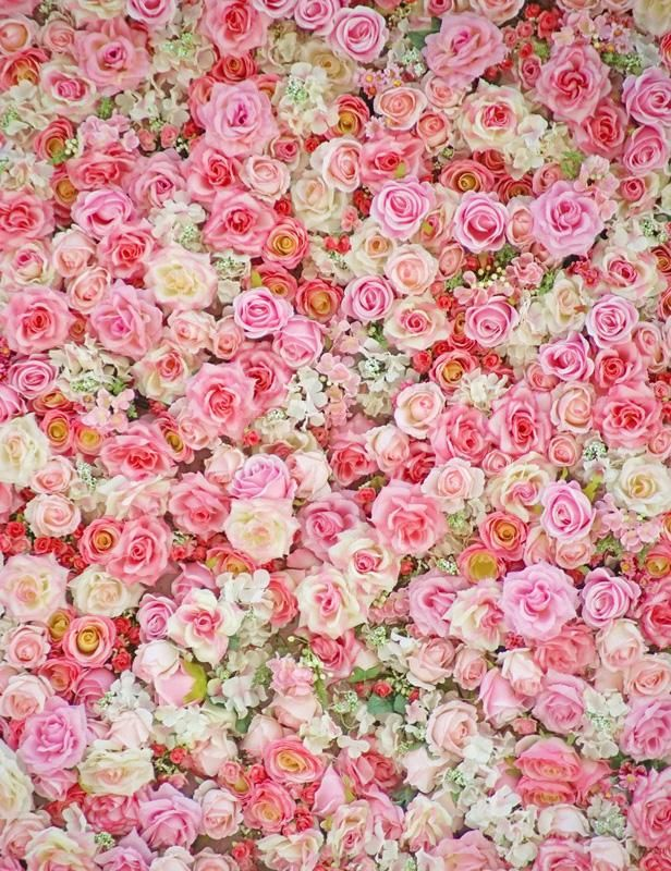 Pink Red Flowers Wall For Wedding Photography Backdrop in