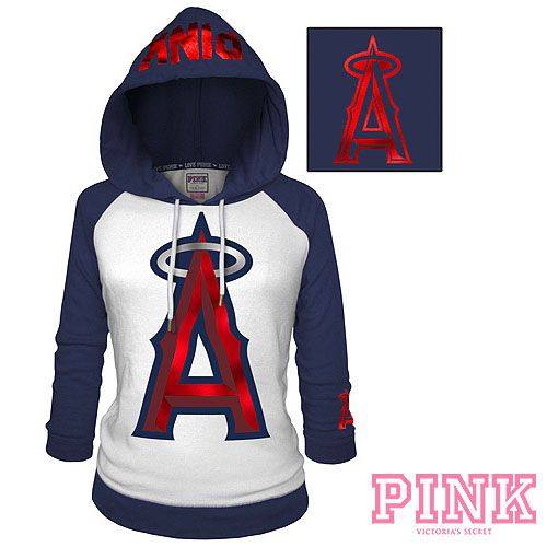 cde51df4555 Los Angeles Angels of Anaheim Victoria s Secret PINK Raglan Pullover ...