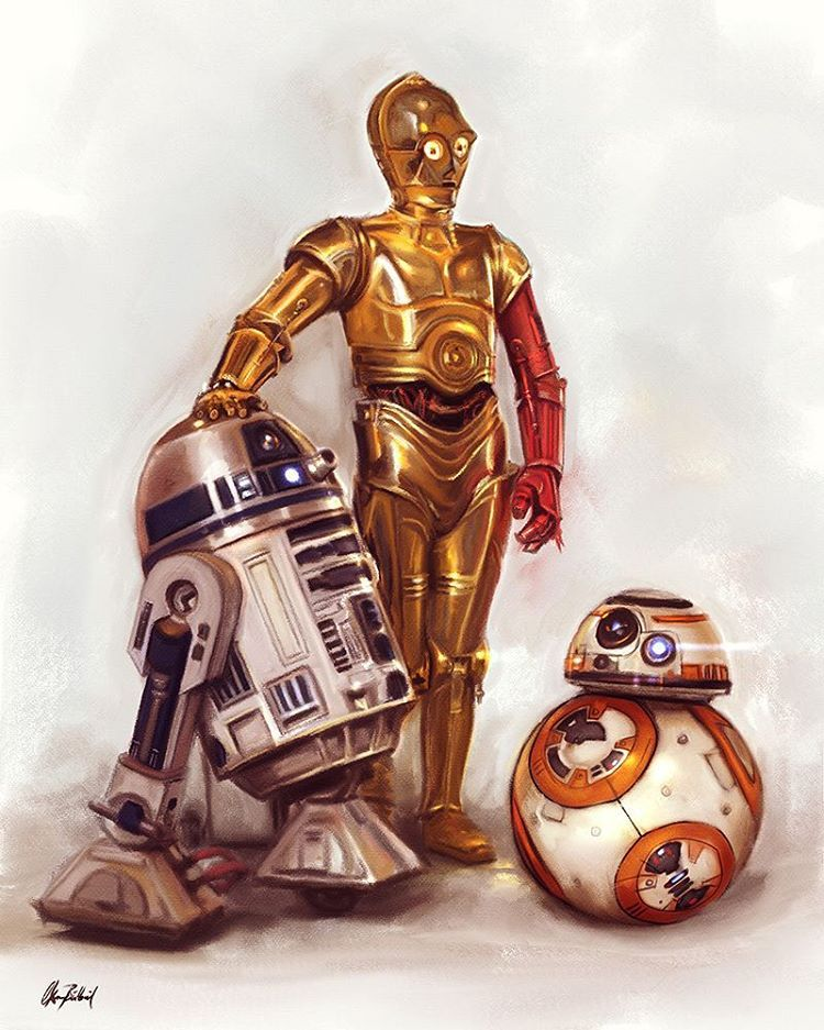"""R2d2 And C3po In Movie """"My first robot draw..."""