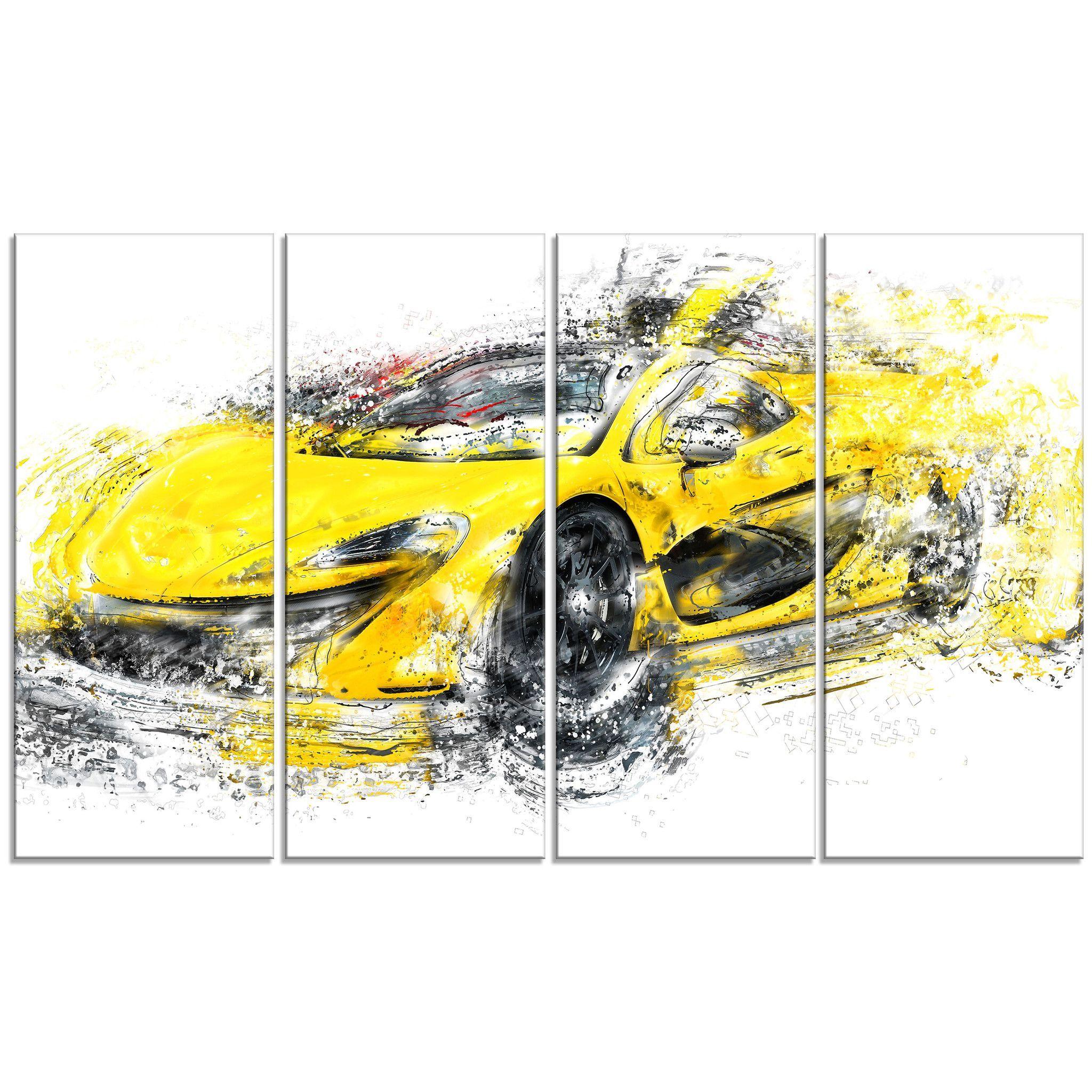 Exotic Yellow Car Canvas Wall Art Print | Exotic cars | Pinterest ...