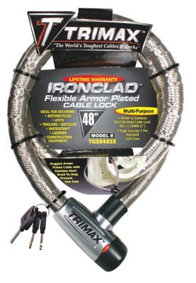 """Trimax Ironclad Flexible Armor Plated Cable Lock - 48"""""""