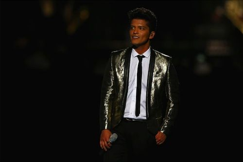 BRUNO MARS AND BAND IN SAINT LAURENT BY HEDI SLIMANE