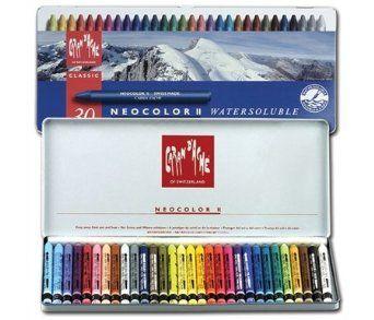 Caran D Ache Neocolor Ii Aquarelle Water Soluble Wax Pastels Set