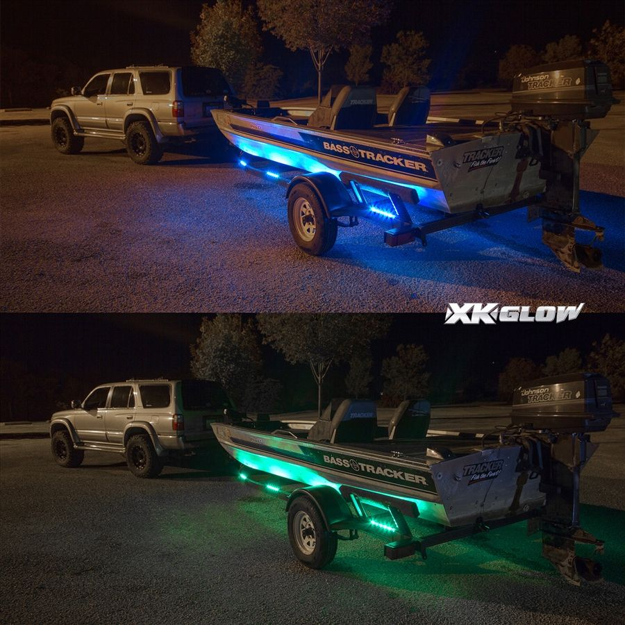 Led Lights In Jon Boat: Our 15 Color Remote Control Boat Trailer Kit For An