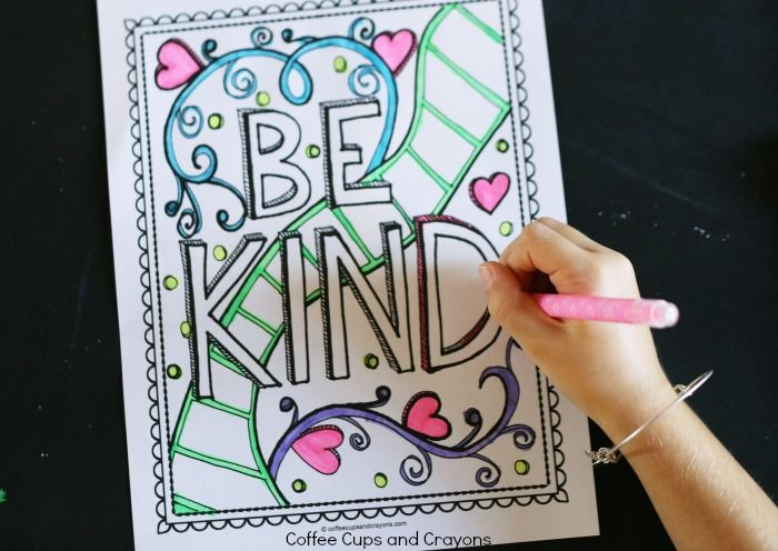 Free Coloring Pages Showing Kindness. Make doing acts of kindness fun for kids  Use this free printable coloring page to teach that good is cool Get Kids Excited About Doing Good with a Kindness Coloring Page