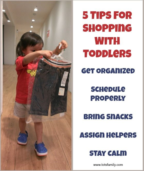 Five tips that allow you to hold your head high while shopping with toddlers.