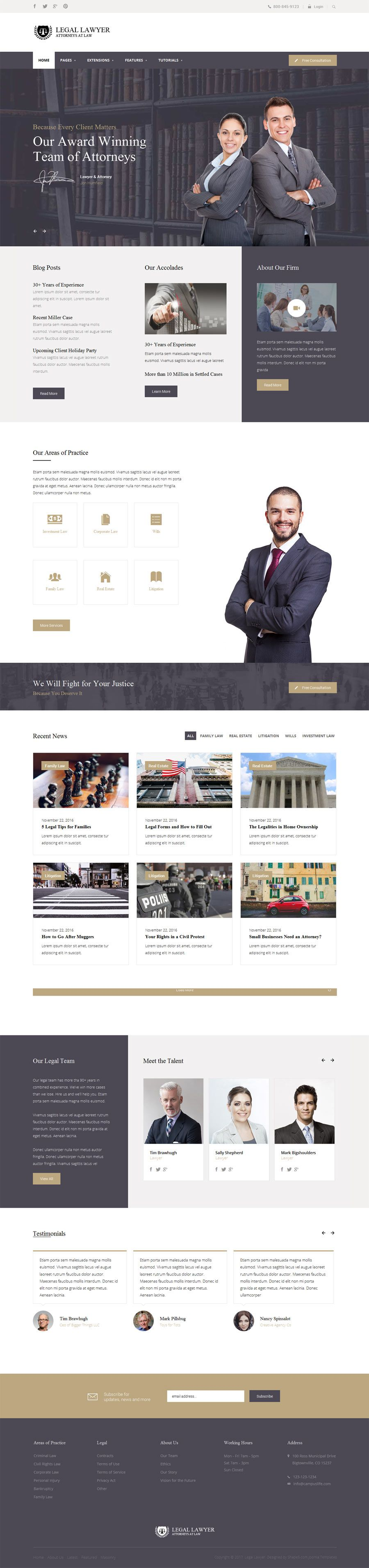 Shape5 - Legal Lawyer Club Template - Functional The Legal Lawyer ...